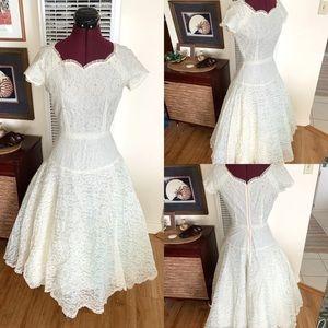1950s Handmade Vintage Wedding Dress